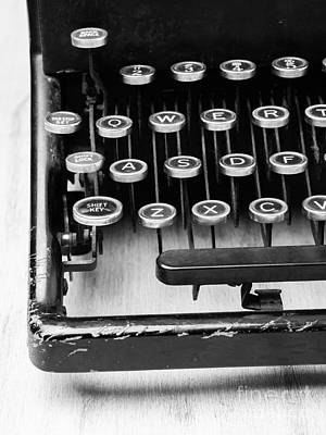Typewriter Keys Photograph - Typewriter Triptych Part 1 by Edward Fielding