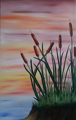 Painting - Typha by Valorie Cross