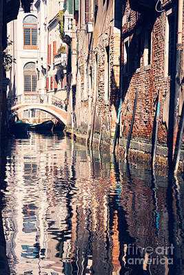 Venice Photograph - Typical Canal In Venice - Italy by Matteo Colombo