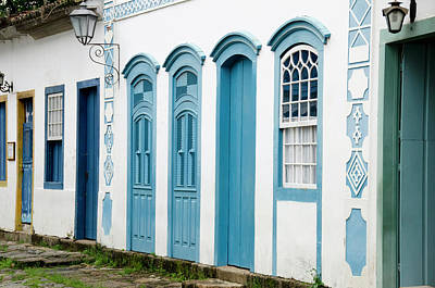 Photograph - Typical Colorful Painted Doors And by Danita Delimont