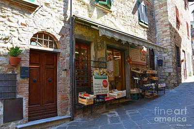 Typical Small Shop In Tuscany Art Print by Ramona Matei