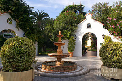 Photograph - Typical Spainish Patio by Brenda Kean