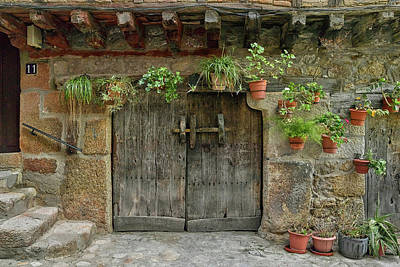 Typical Traditional Wooden Front Door Art Print by Panoramic Images