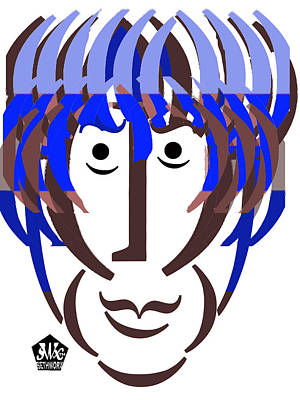 Typortraiture George Harrison Art Print