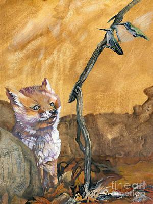 Painting - Tyrah's Tale by J W Baker