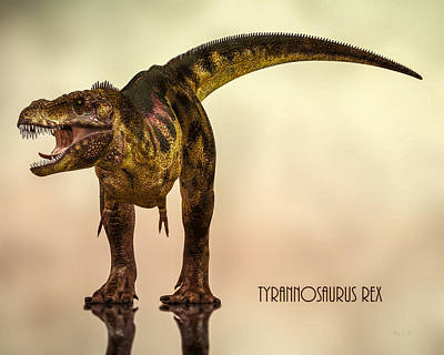 Prehistoric Digital Art - Tyrannosaurus Rex Dinosaur  by Bob Orsillo