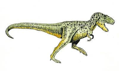 Dinosaur Painting - Tyrannosaurus Rex by Michael Vigliotti