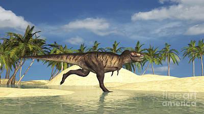 Running Digital Art - Tyrannosaurus Rex Running by Kostyantyn Ivanyshen