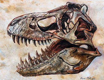 Tyrannosaurus Skull 2 Original by Harm  Plat