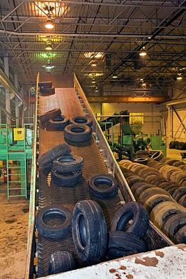 Tyre Recycling Facility Print by Jim West