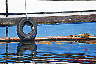Sailing Photograph - Tyre Time by Dorothy Hilde
