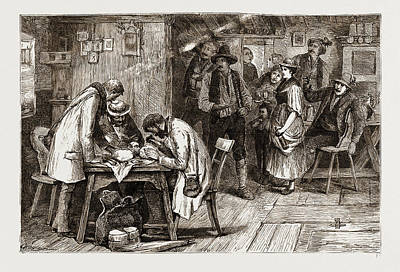Tyrol, 1876 Anthropologists Or Anthropophagists Art Print by Litz Collection