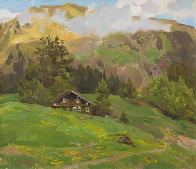 Tyrolean Motive Original by Victoria Kharchenko