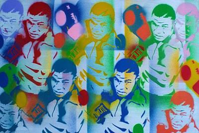 Street Art Painting - Tyson Pop Art 1 by Leon Keay