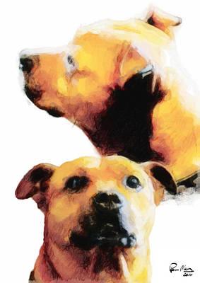 Tyson Watercolour Art Print by Paul Moore
