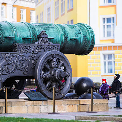 Tzar Cannon Of Moscow Kremlin - Square Art Print by Alexander Senin
