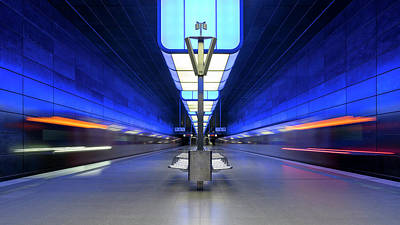 Railroad Stations Photograph - U-bahn Hafenuniversita?t by Alexander Sch?nberg