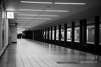 U-bahn Photograph - u-bahn platform and station Berlin Germany by Joe Fox