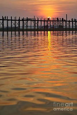 U Bein Bridge In Mandalay Original