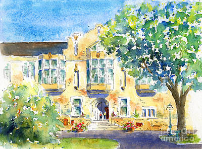 Painting - U Of S College Building by Pat Katz