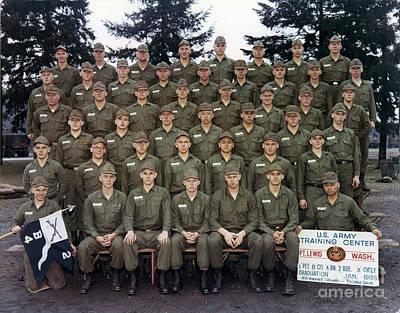 Photograph - U. S. Army Training Center Fort Lewis Washington B 4 2 Jan 1968 by California Views Archives Mr Pat Hathaway Archives