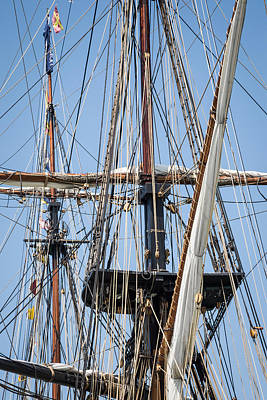 Photograph - U. S. Brig Niagara Rigging by Dale Kincaid