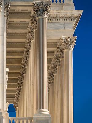 U S Capitol Columns Print by Steve Gadomski