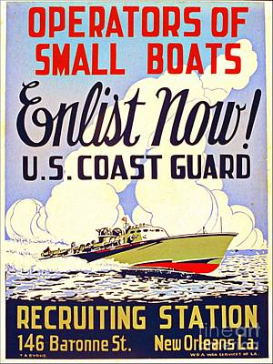 Photograph - U S Coast Guard Poster 1941 by Audreen Gieger