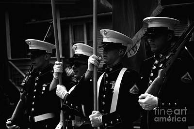 Frank J Casella Royalty-Free and Rights-Managed Images - U. S. Marines - Monochrome by Frank J Casella