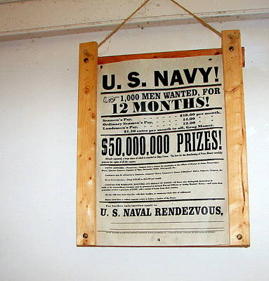 U. S. Navy Men Wanted Art Print by Pamela Hyde Wilson