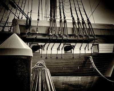 Photograph - U S S Constellation In Sepia by Bill Swartwout Fine Art Photography