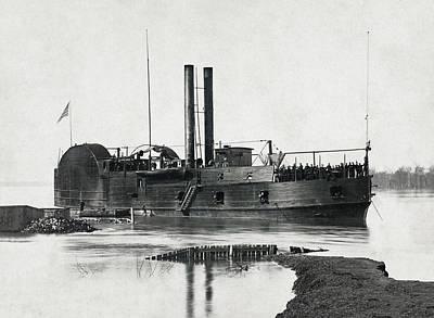 U S S Tyler Gunboat - Civil War - 1862 Art Print