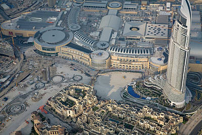 Dubai Photograph - Uae, Dubai Aerial Of Dubai Mall by Jaynes Gallery