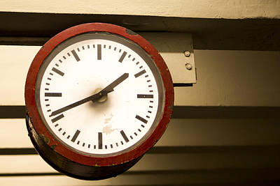 U-bahn Photograph - Ubahn Clock by Adrien E