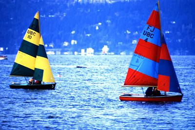 Photograph - Ubc Sailboats by Robert  Rodvik