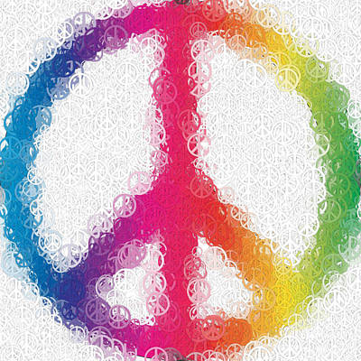 Peace Digital Art - Uber Peace by Ron Hedges
