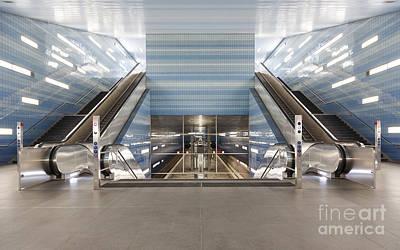Uberseequartier Subway Station Hamburg Print by Jannis Werner