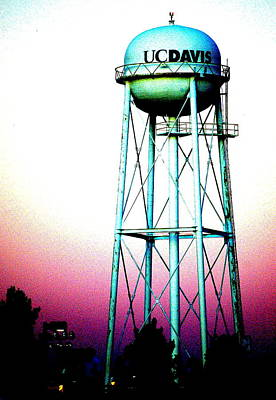 Photograph - Uc Davis Water Tower by Cindi Castro