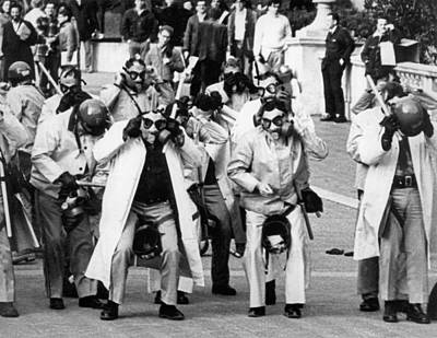 Toby Photograph - Uc Police Don Riot Gear by Underwood Archives Thornton