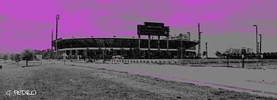 Sports Paintings - UCF Stadium by George Pedro