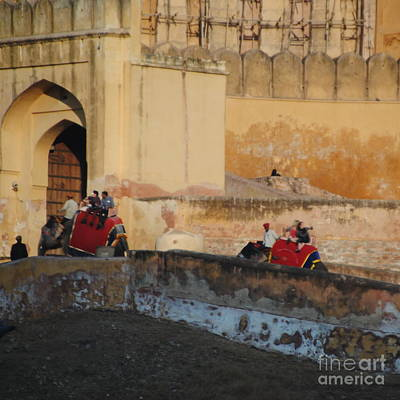 Photograph - Jaipur - Amber Fort Climb by Jacqueline M Lewis