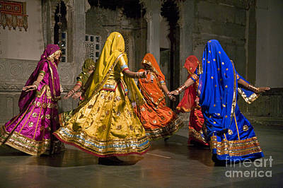 Photograph - Udaipur Dancers - Rajasthan India by Craig Lovell