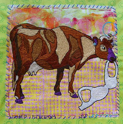 Tapestry - Textile - Udder Freedom by Susan Sorrell