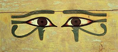 Healing Photograph - Udjat Eyes On A Coffin, Middle Kingdom Wood & Paint by Egyptian 12th Dynasty