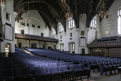 Uf University Auditorium Interior And Seating Art Print by Lynn Palmer