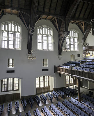 Uf University Auditorium Window And Balcony Detail Art Print by Lynn Palmer
