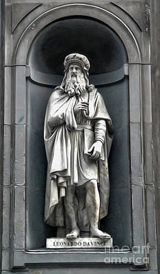 Painting - Uffizi Gallery - Leonardo Da Vinci by Gregory Dyer
