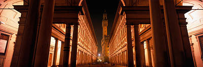 Uffizi Museum, Palace Vecchio Art Print by Panoramic Images