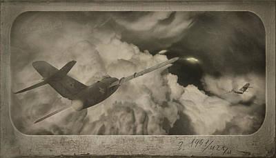 Ufo-1951 Art Print by Akos Kozari