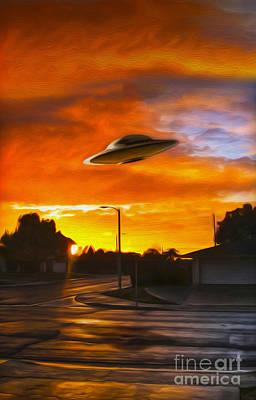 Painting - UFO by Gregory Dyer